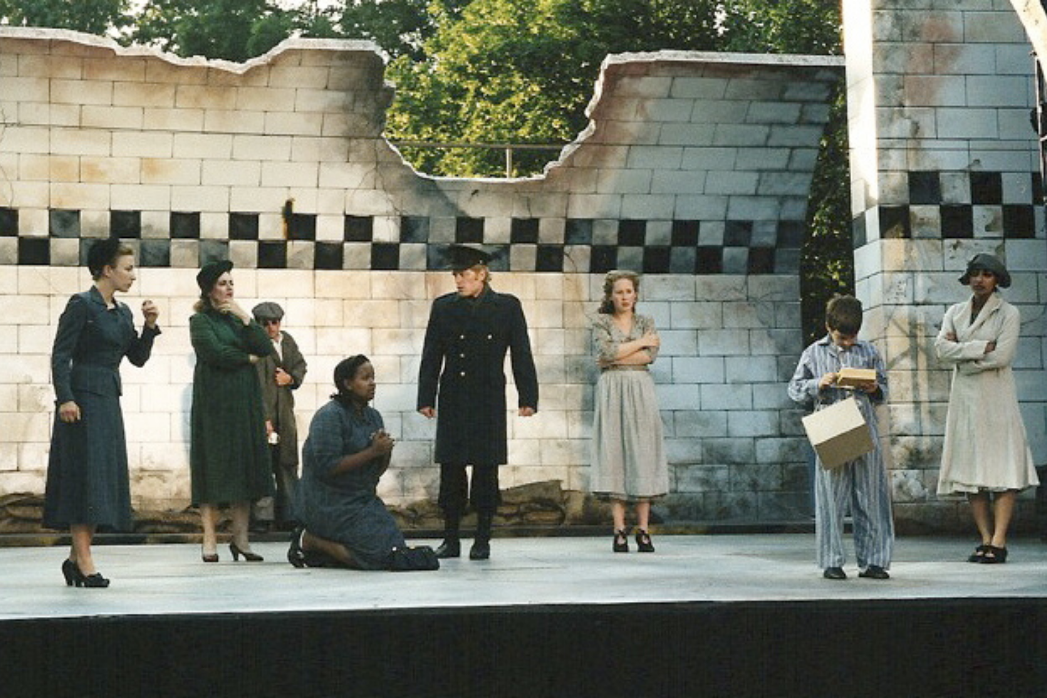 Marya Lowry (Chorus) in Henry V, Shakespeare on the Common 2002