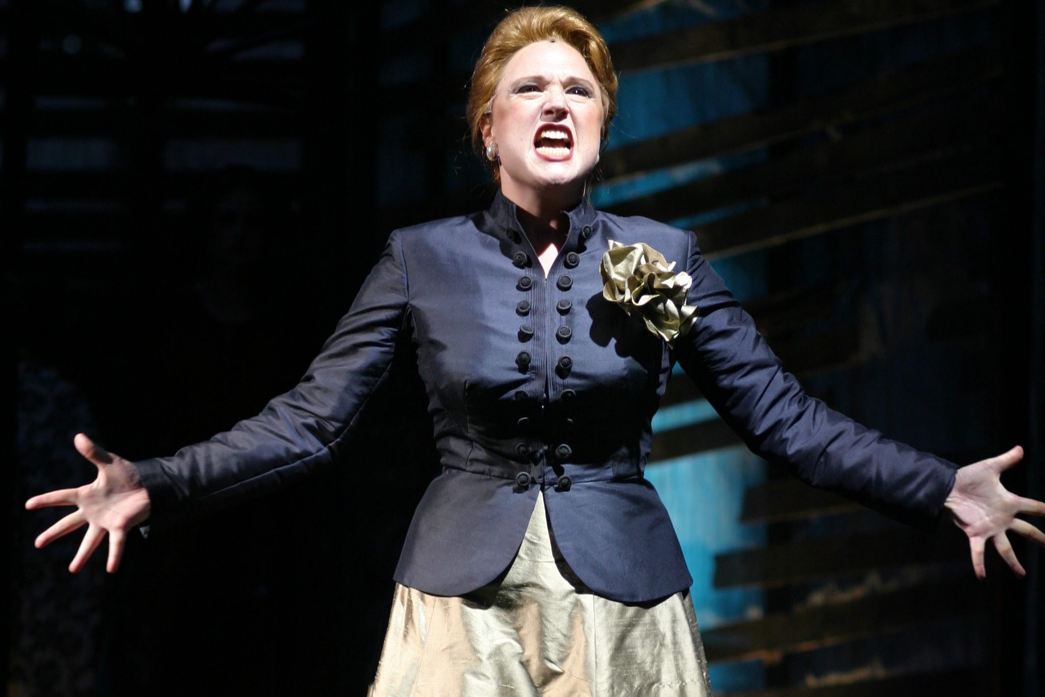 Jennie Israel (Lady Macbeth) in Macbeth, Shakespeare on the Common 2003-Photo by Andrew Brilliant