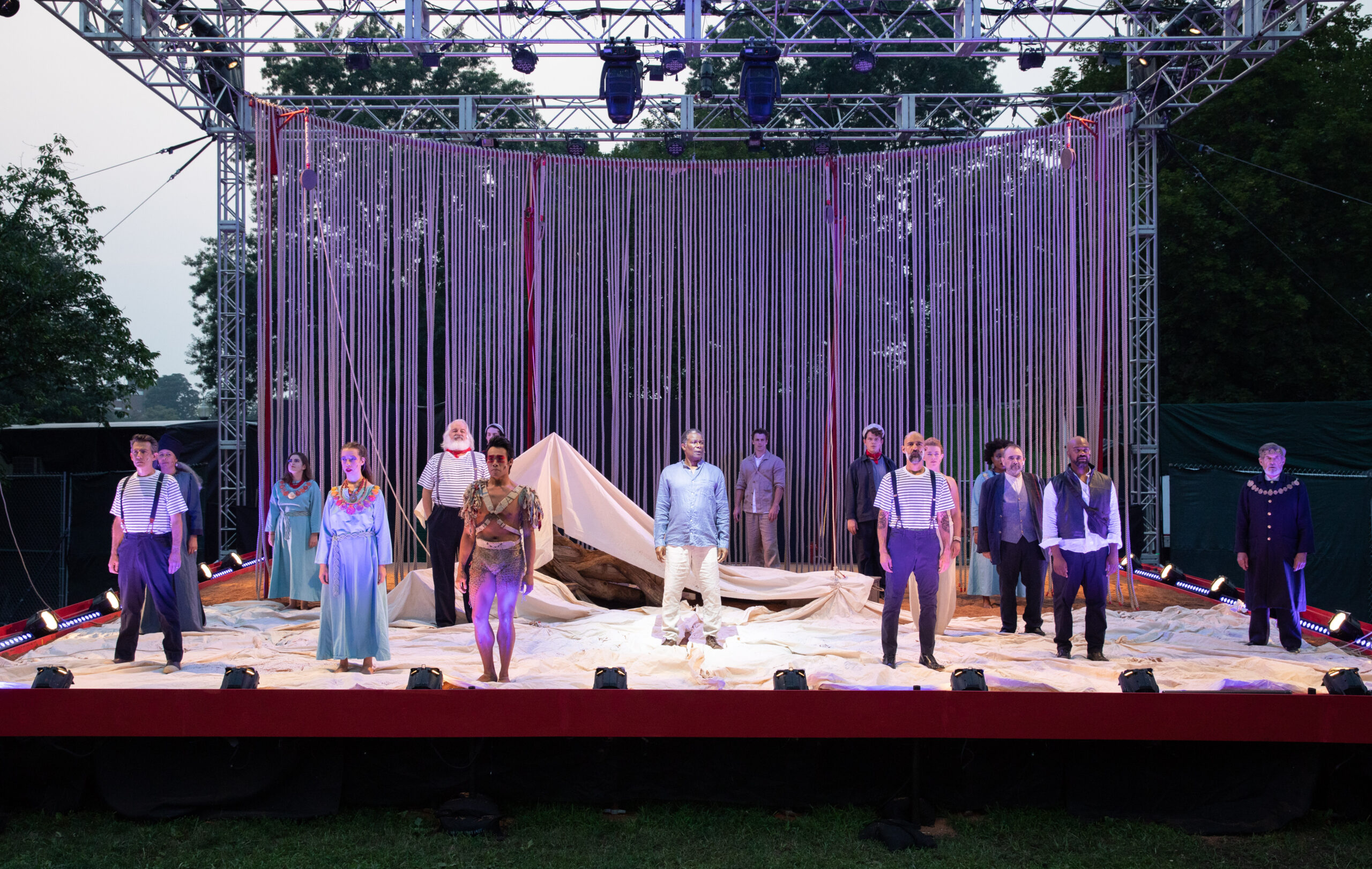 The cast of The Tempest Photo by: Evgenia Eliseeva