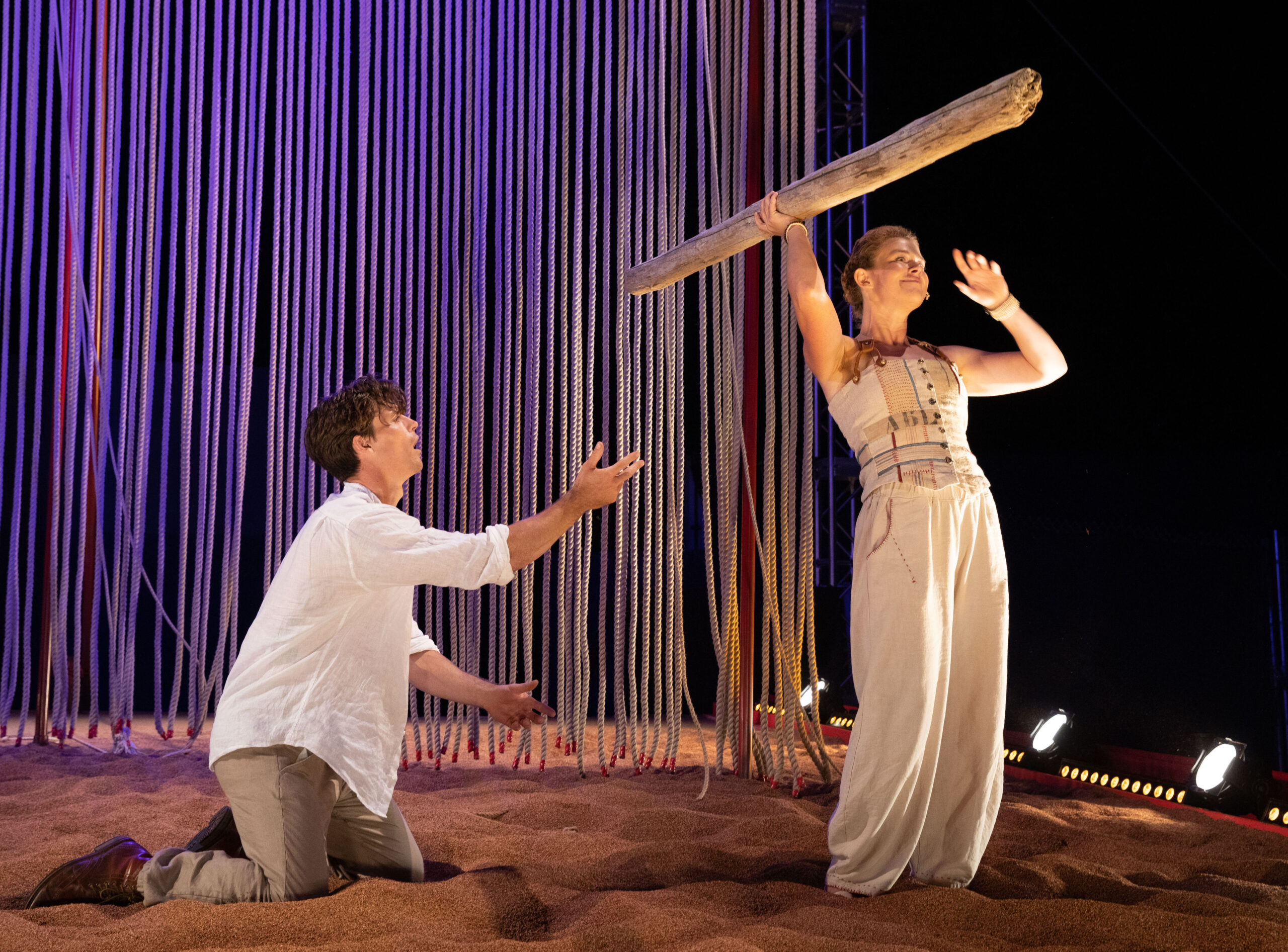 Michael Underhill (Ferdinand) and Nora Eschenheimer (Miranda) Photo by: Evgenia Eliseeva