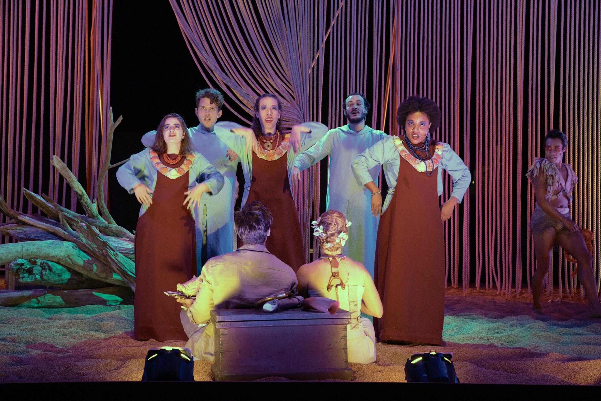 Jessica Golden(Ensemble), Dylan C. Wack (Ensemble), Marta Rymer (Ensemble), Duncan Gallagher (Ensemble), and Ekemini Ekpo (Ensemble) Photo by: Evgenia Eliseeva